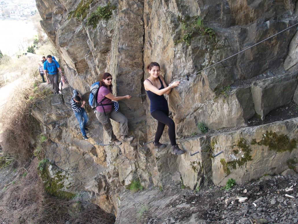 Klettersteig Rhein Boppard : Klettersteig mittelrhein mit kindern und höhenangst aktiv durch
