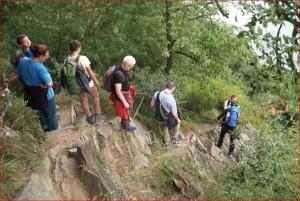 Abstieg über die Felsenrippe